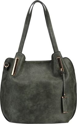 MKF Collection by Mia K. Farrow Chatty Is an Elegant Shoulder Tote Dark Green - MKF Collection by Mia K. Farrow Manmade Handbags