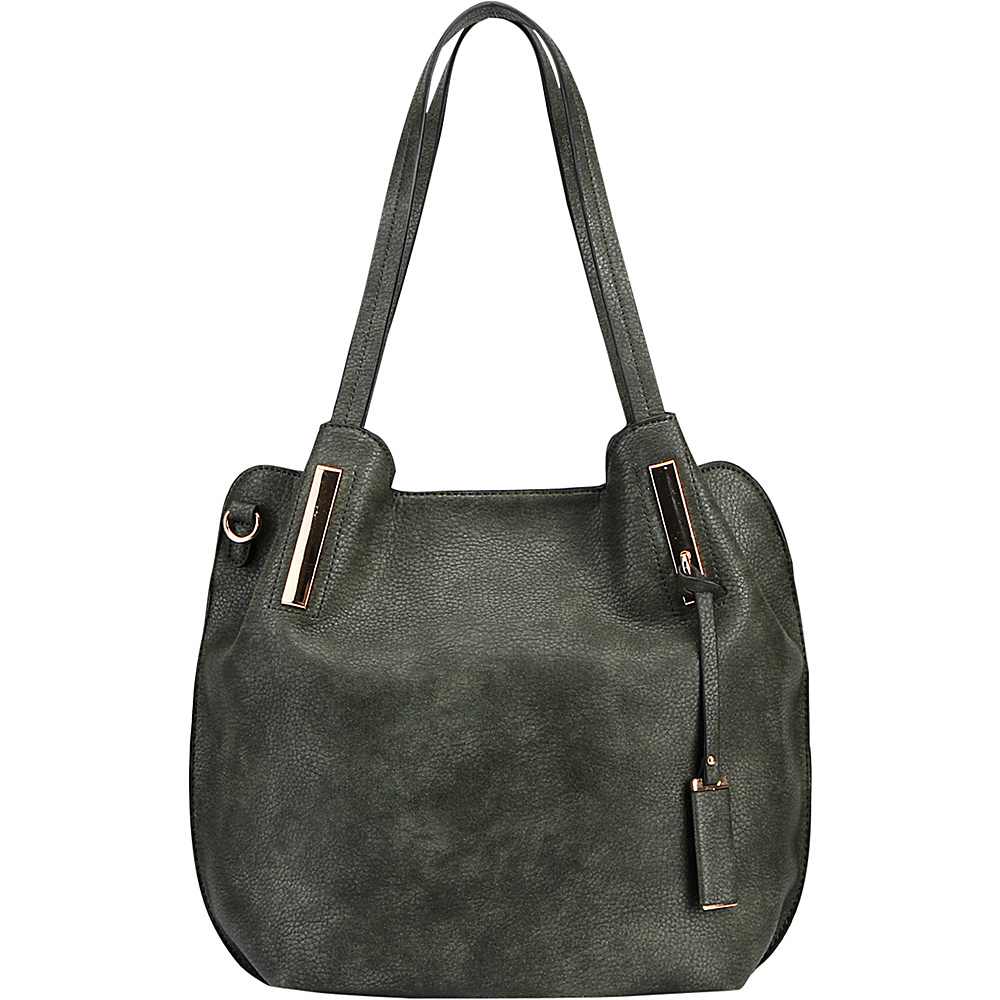 MKF Collection by Mia K. Farrow Chatty Is an Elegant Shoulder Tote Dark Green - MKF Collection by Mia K. Farrow Manmade Handbags - Handbags, Manmade Handbags