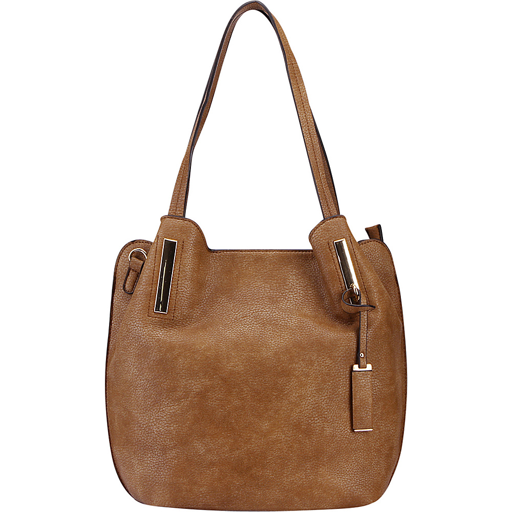 MKF Collection Chatty Is an Elegant Shoulder Tote Beige - MKF Collection Manmade Handbags - Handbags, Manmade Handbags
