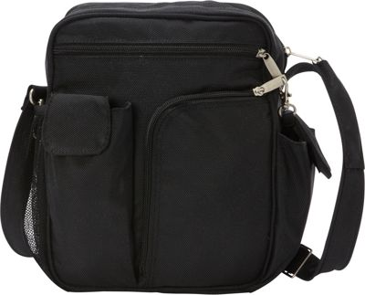 BeSafe by DayMakers RFID Large Security Guide Shoulder Bag LX Black - BeSafe by DayMakers Fabric Handbags
