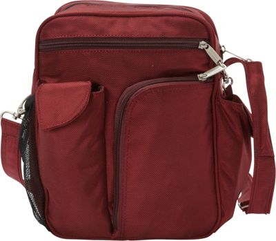 BeSafe by DayMakers RFID Large Security Guide Shoulder Bag LX Cherry - BeSafe by DayMakers Fabric Handbags