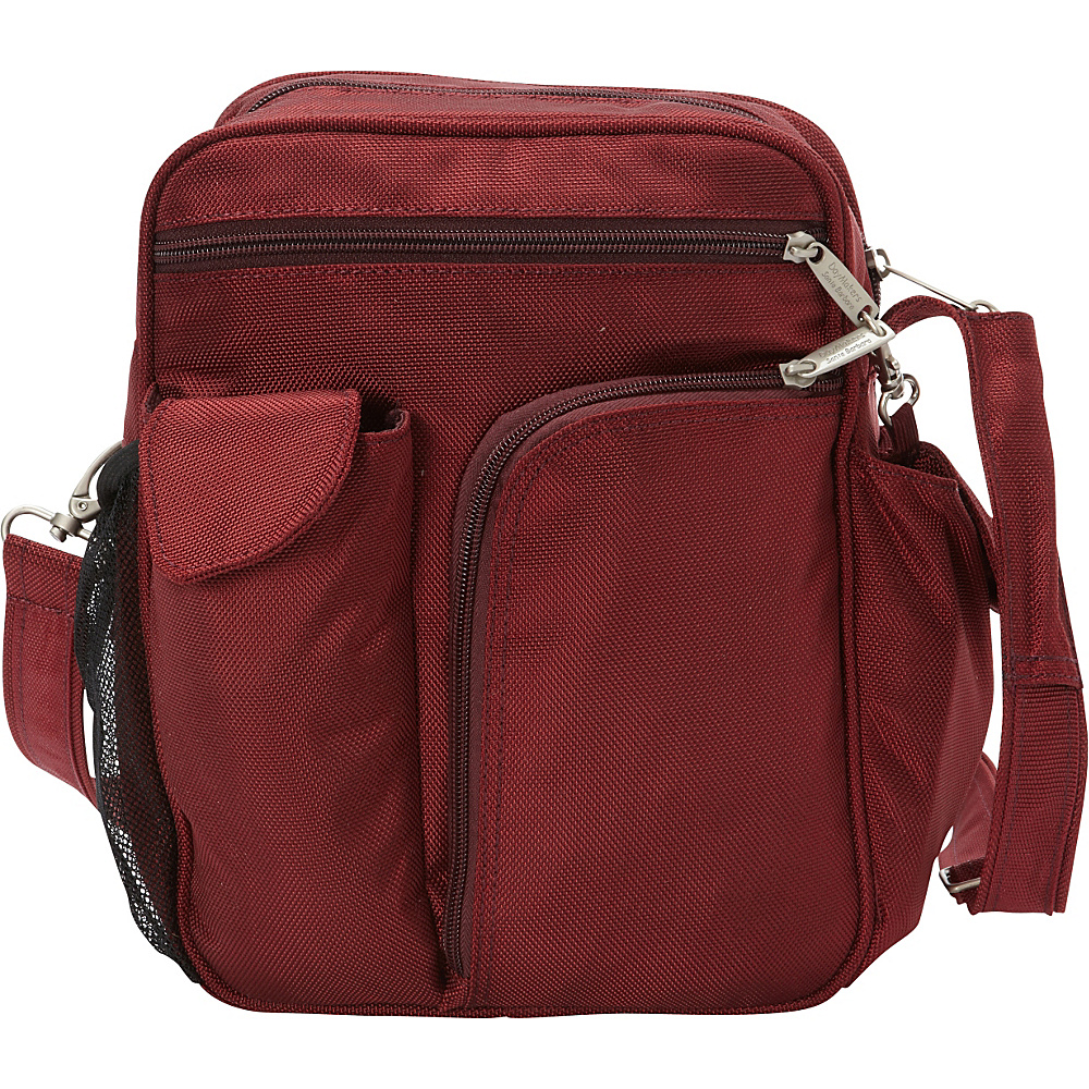 BeSafe by DayMakers RFID Large Security Guide Shoulder Bag LX Cherry BeSafe by DayMakers Fabric Handbags