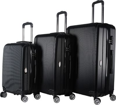 Brio Luggage Brio Luggage Hardside Spinner Luggage Set #1310 Black - Brio Luggage Luggage Sets