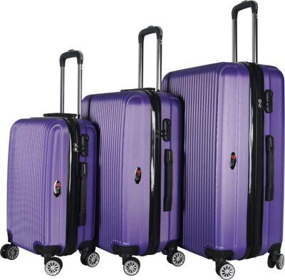 Brio Luggage Hardside Spinner Luggage Set #1310 Purple - Brio Luggage Luggage Sets