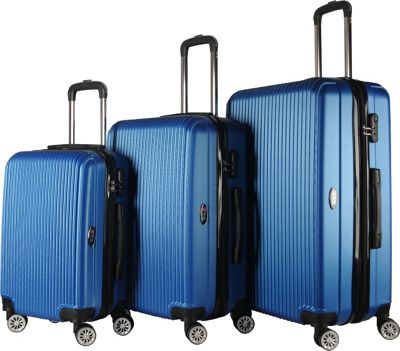Brio Luggage Brio Luggage Hardside Spinner Luggage Set #1310 Royal Blue - Brio Luggage Luggage Sets