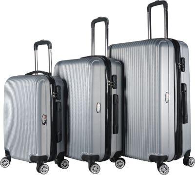 Brio Luggage Hardside Spinner Luggage Set Silver - Brio Luggage Luggage Sets
