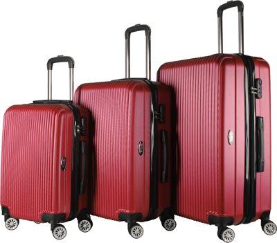 Brio Luggage Hardside Spinner Luggage Set #1310 Wine Red - Brio Luggage Luggage Sets