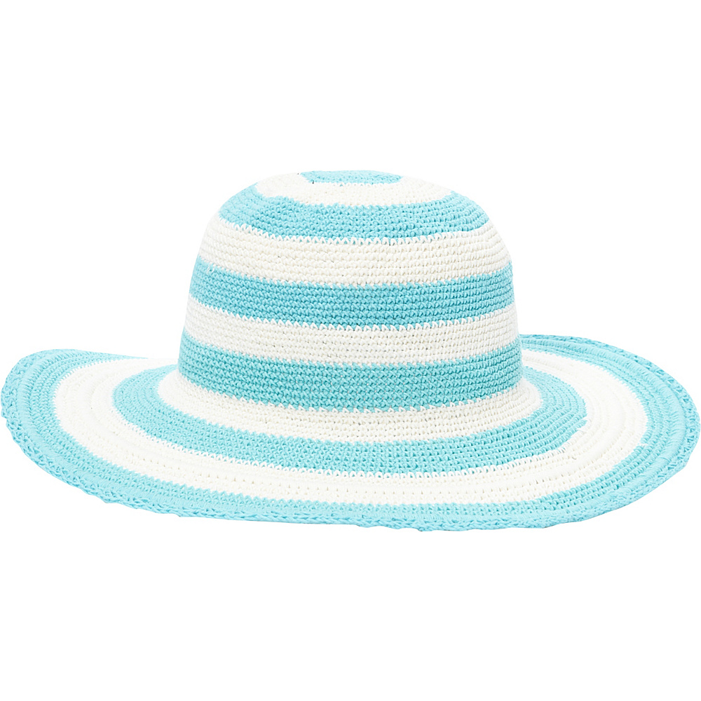 TLC you Comfort Style Sun Hat Aqua Cream Stripe TLC you Hats Gloves Scarves