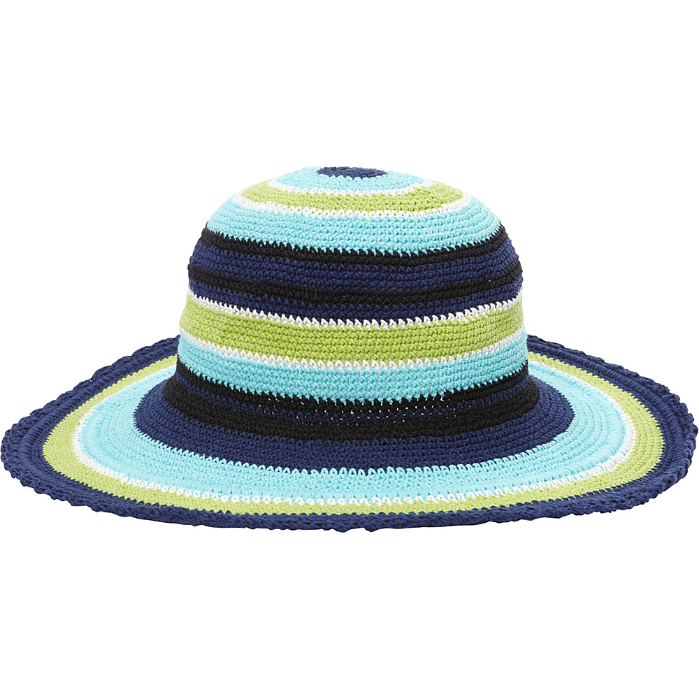 TLC you Comfort Style Sun Hat Multi Navy Lime Aqua TLC you Hats Gloves Scarves