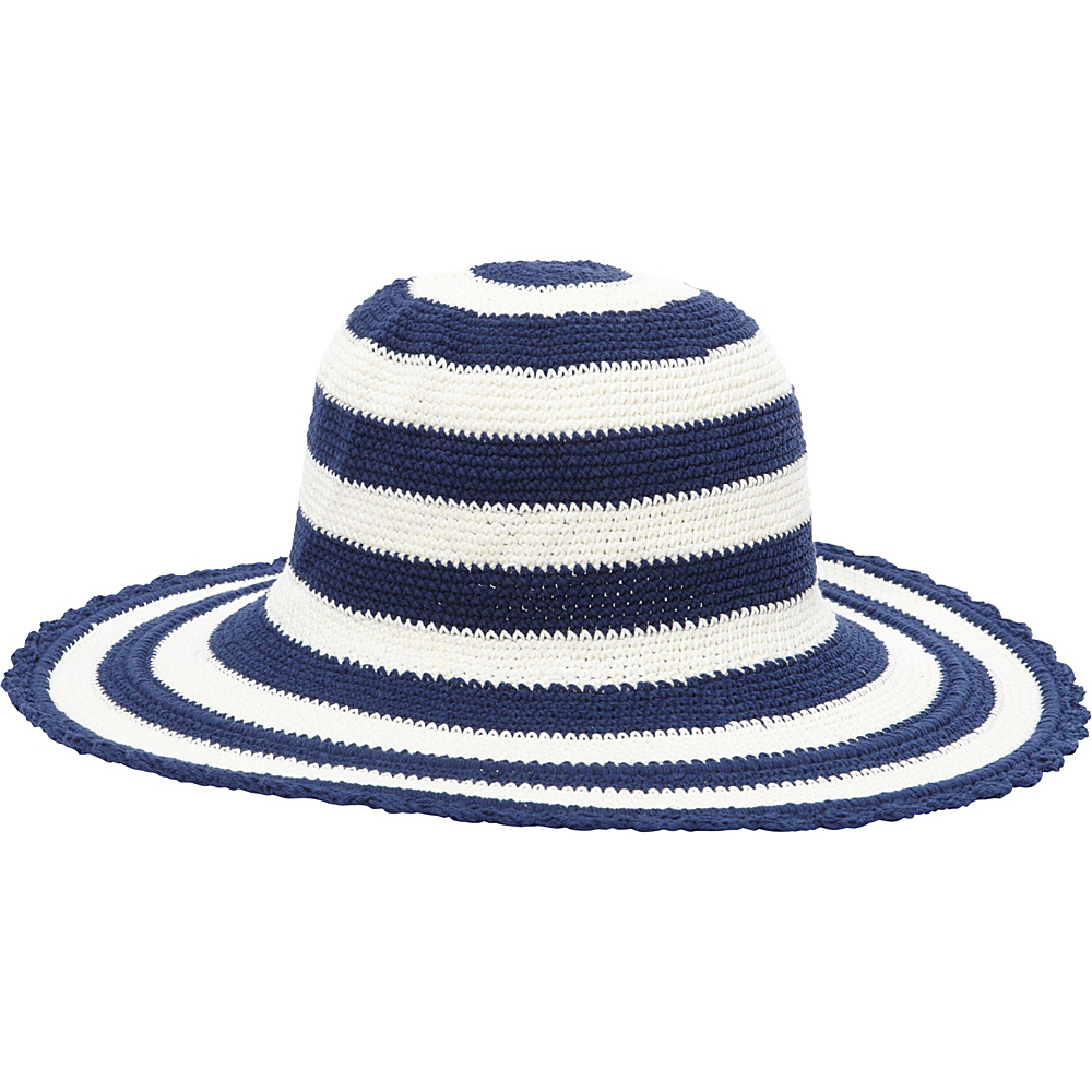 TLC you Comfort Style Sun Hat Navy Cream Stripe TLC you Hats Gloves Scarves