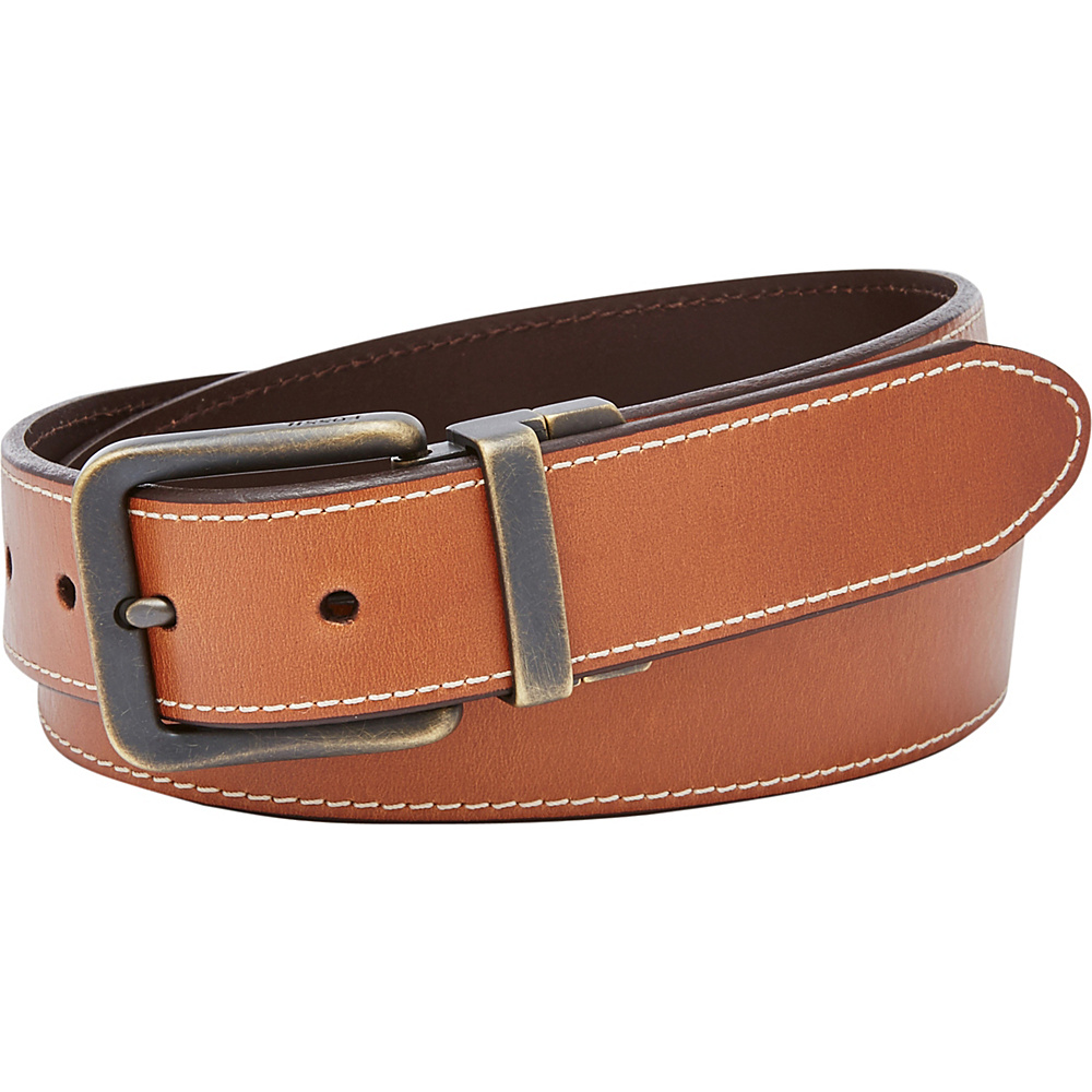 Fossil Fitz Reversible Belt Brown- Size 44 - Fossil Other Fashion Accessories - Fashion Accessories, Other Fashion Accessories