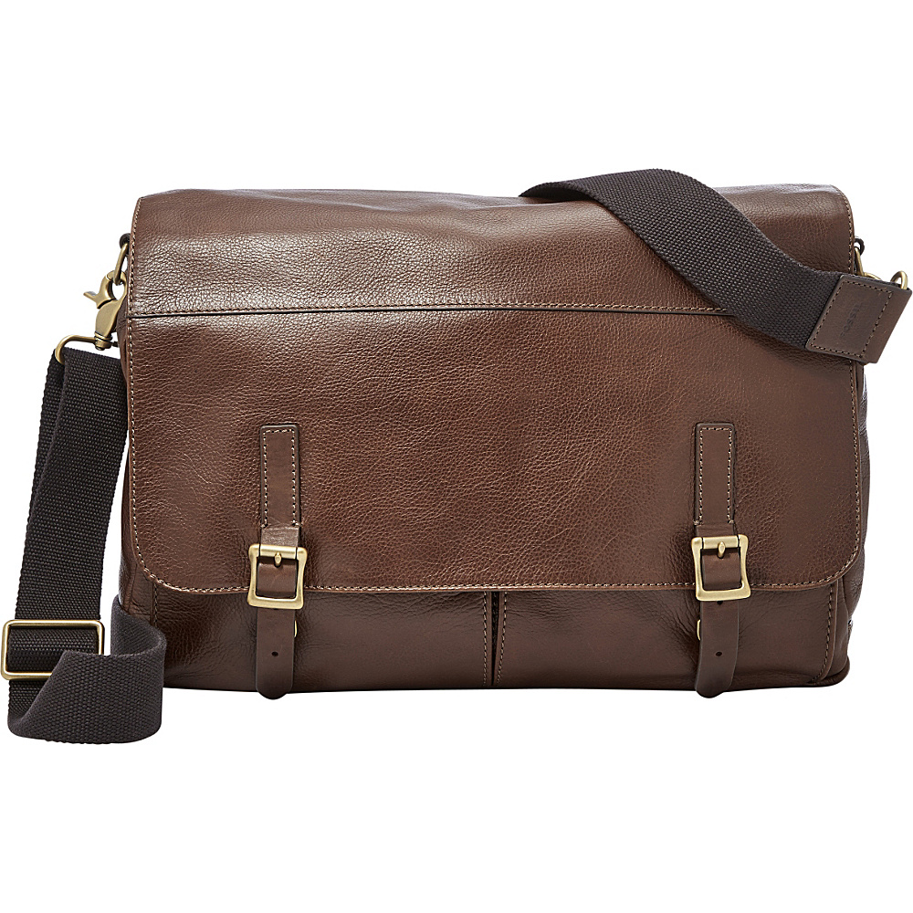 Fossil Defender Messenger Brown - Fossil Messenger Bags - Work Bags & Briefcases, Messenger Bags