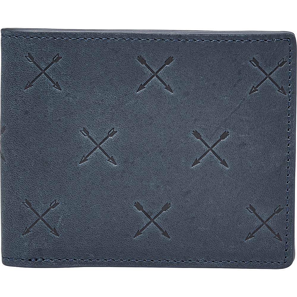 Fossil Maverick Bifold Navy - Fossil Mens Wallets - Work Bags & Briefcases, Men's Wallets