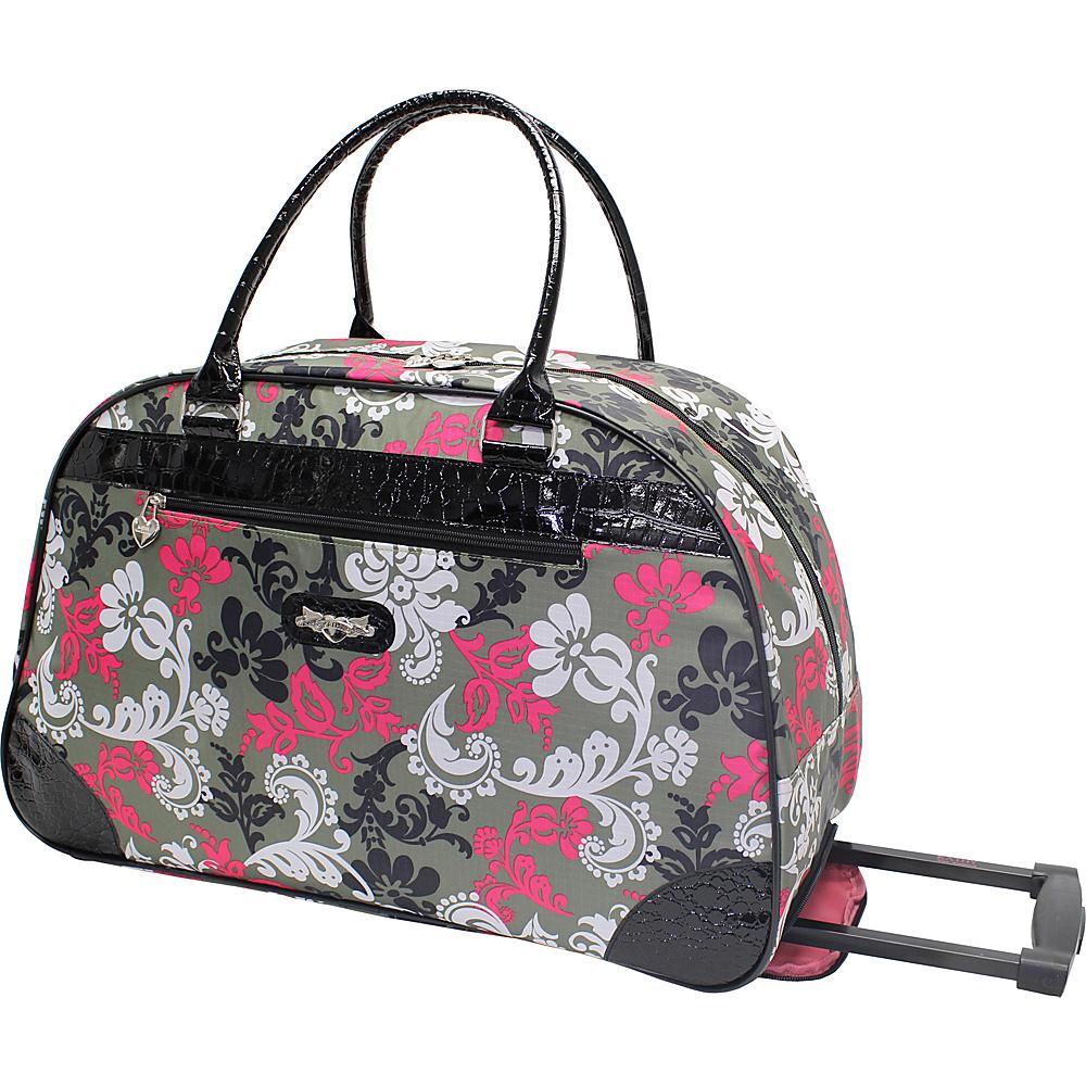 kathy van zeeland travelware 22 wheeled dome bag rolling duffel new ebay. Black Bedroom Furniture Sets. Home Design Ideas