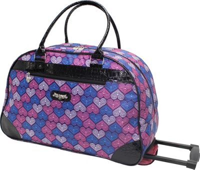 Kathy Van Zeeland Travelware 22 inch Wheeled Dome Bag Purple Heart - Kathy Van Zeeland Travelware Rolling Duffels