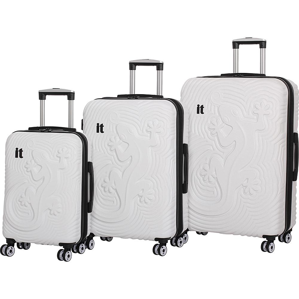 it luggage Lizard Hardside 8 Wheel 3 piece set White - it luggage Luggage Sets