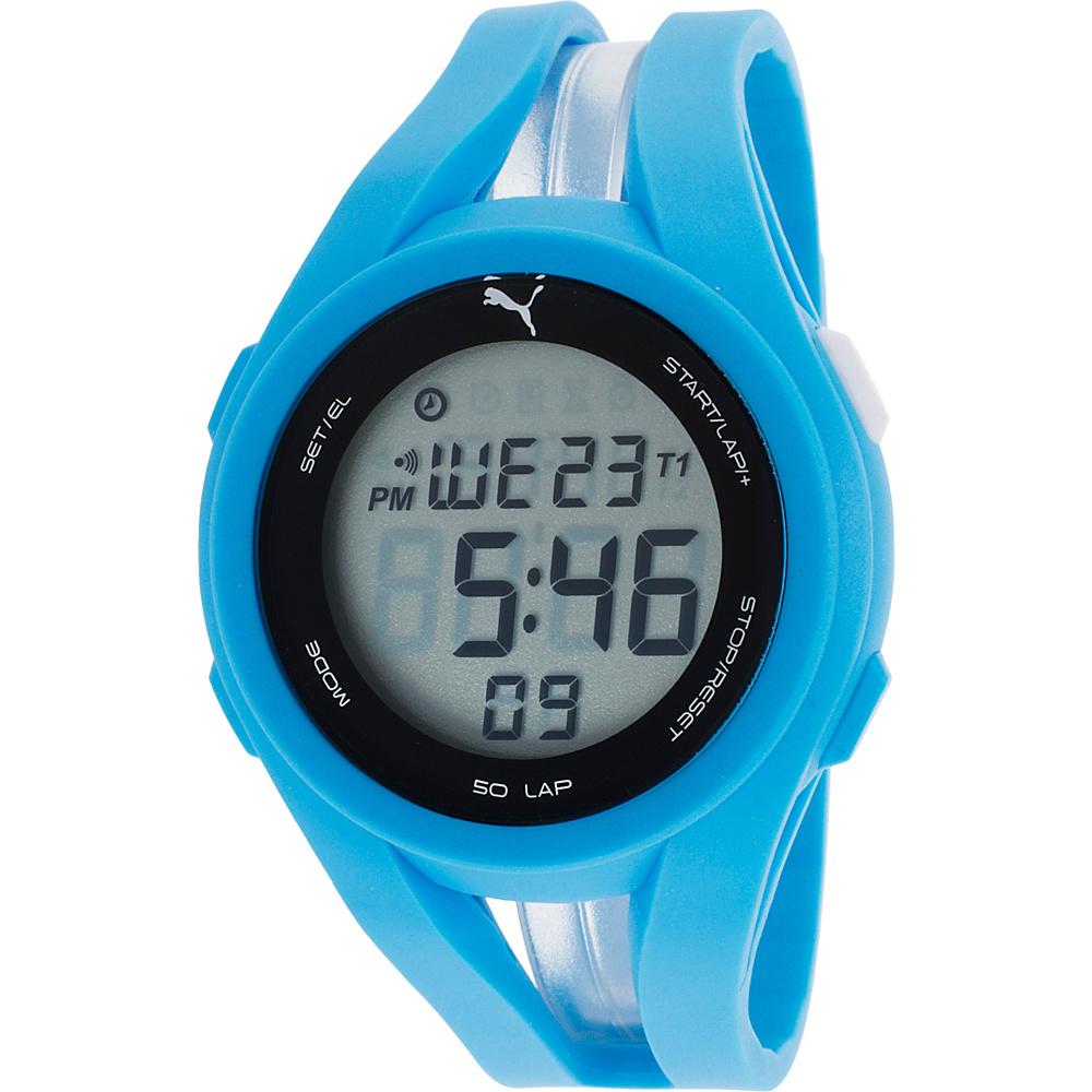 Puma Watches Sky Blue Rubber Digital Dial Watch Blue - Puma Watches Watches