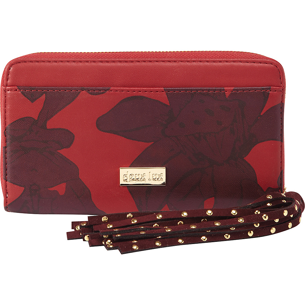 deux lux Eros Zip Wallet Red deux lux Women s Wallets