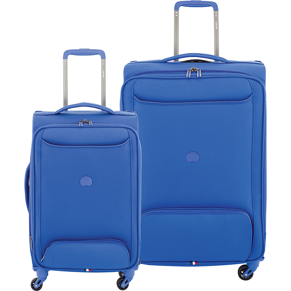 "Delsey Chatillon 2 Piece Carry On and 25"" Spinner Luggage Set Blue - Delsey Luggage Sets"