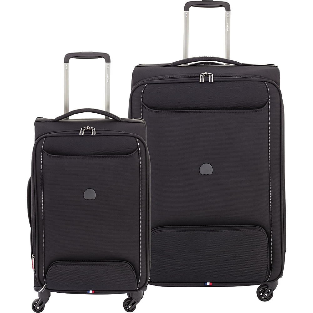 "Delsey Chatillon 2 Piece Carry On and 25"" Spinner Luggage Set Black - Delsey Luggage Sets"