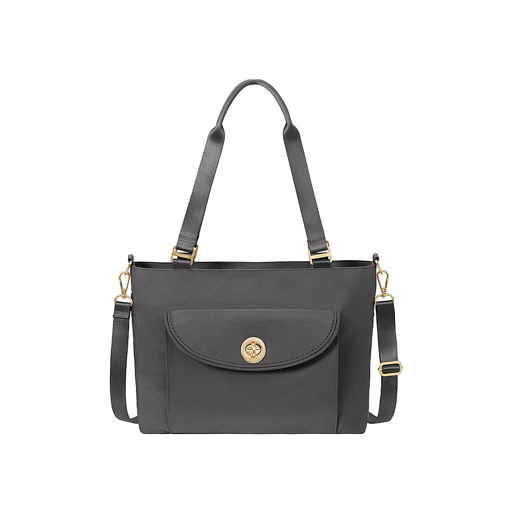 baggallini La Paz Tote Charcoal - baggallini Fabric Handbags - Handbags, Fabric Handbags
