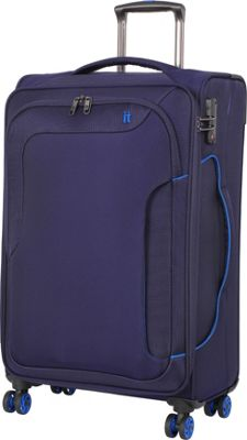 it luggage Amsterdam III 8 Wheel Spinner 27.6 inch Evening Blue - it luggage Softside Checked
