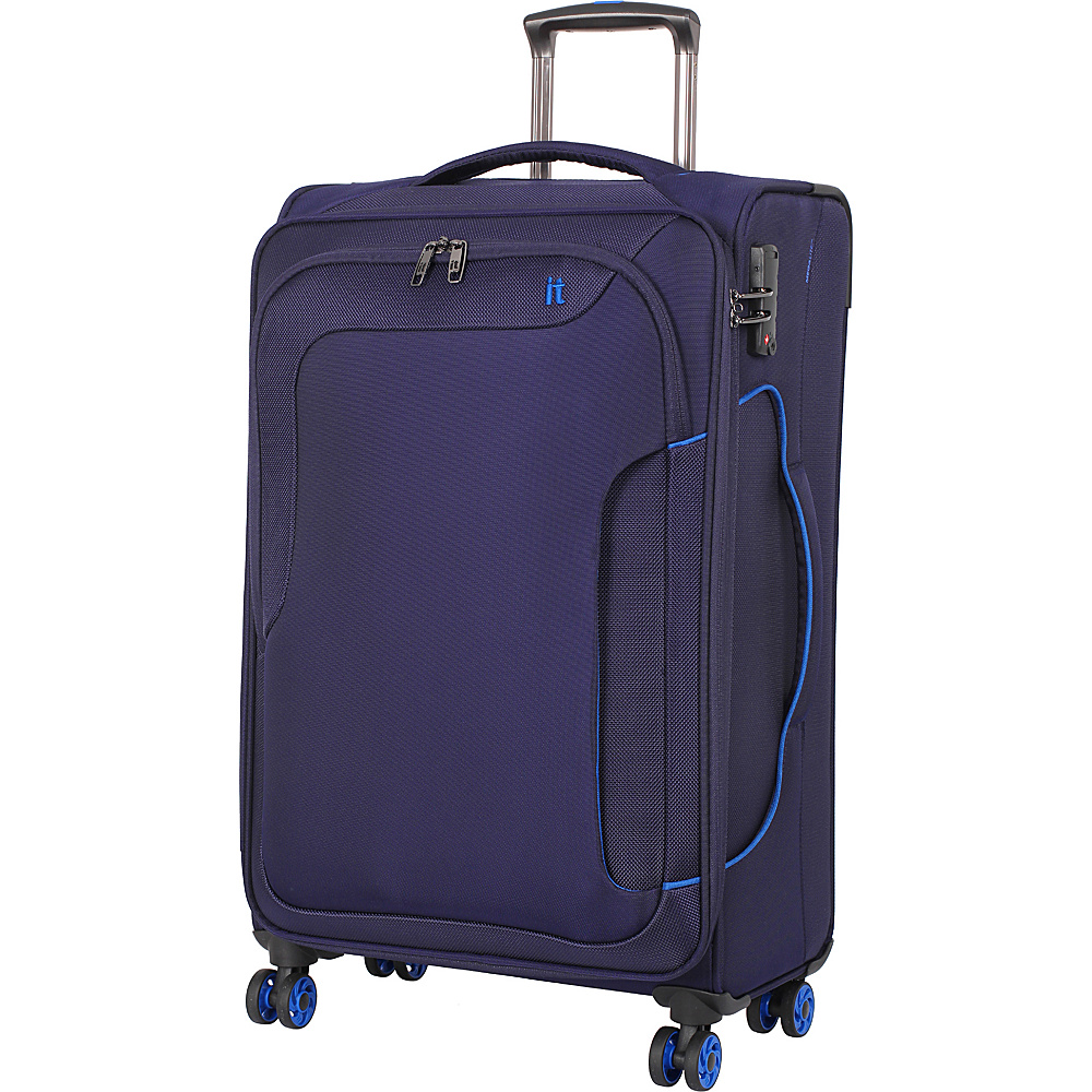 it luggage Amsterdam III 8 Wheel Spinner 27.6 inch Evening Blue it luggage Softside Checked