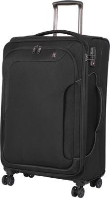 it luggage Amsterdam III 8 Wheel Spinner 27.6 inch Black - it luggage Softside Checked