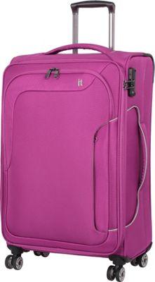 it luggage Amsterdam III 8 Wheel Spinner 27.6 inch Magenta Haze - it luggage Softside Checked