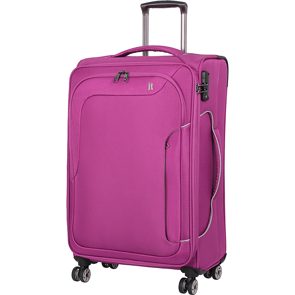 it luggage Amsterdam III 8 Wheel Spinner 27.6 inch Magenta Haze it luggage Softside Checked