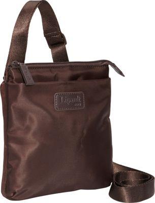 Lipault Paris Medium Crossbody Bag - Discontinued Colors Espresso - Lipault Paris Fabric Handbags