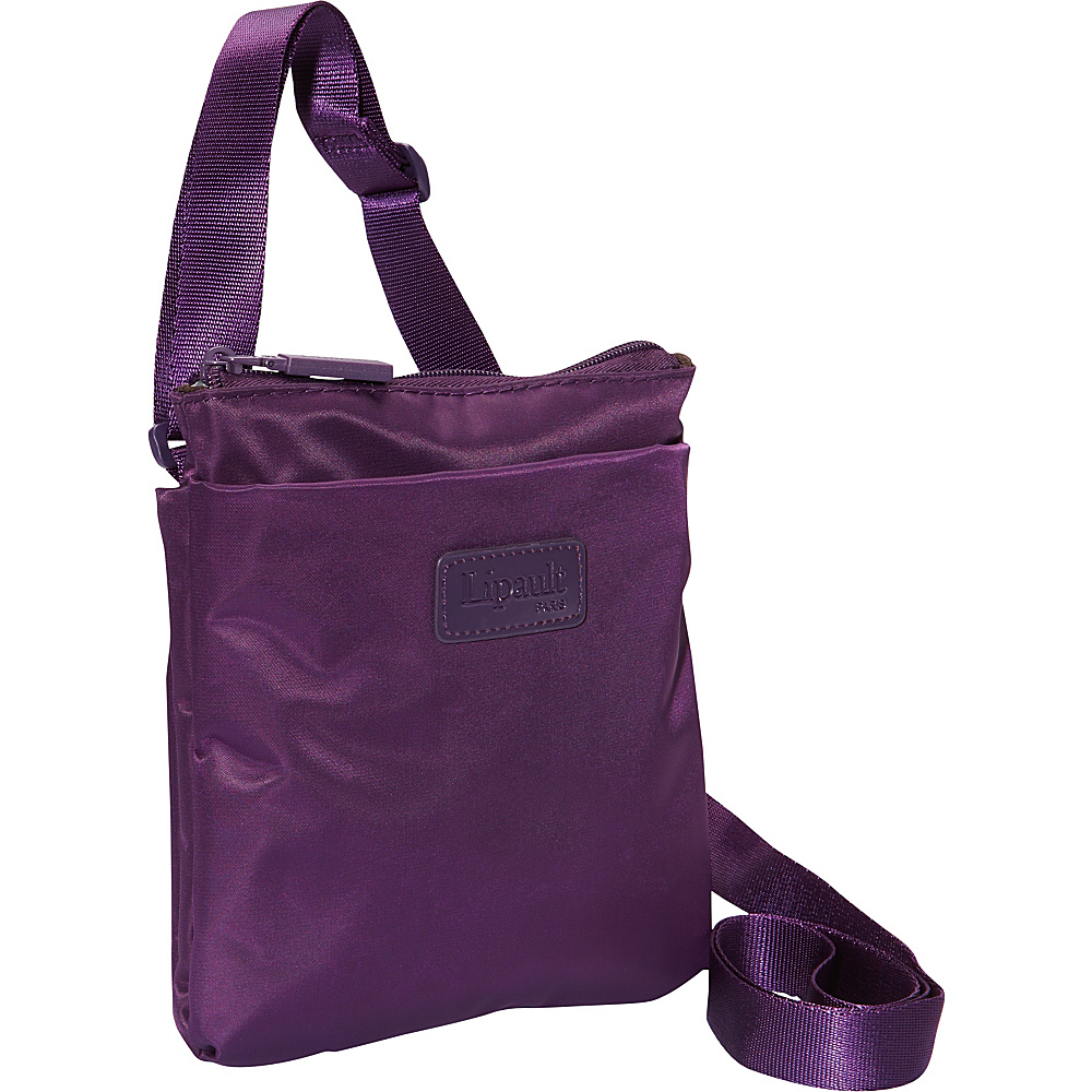Lipault Paris Medium Crossbody Bag Discontinued Colors Purple Lipault Paris Fabric Handbags