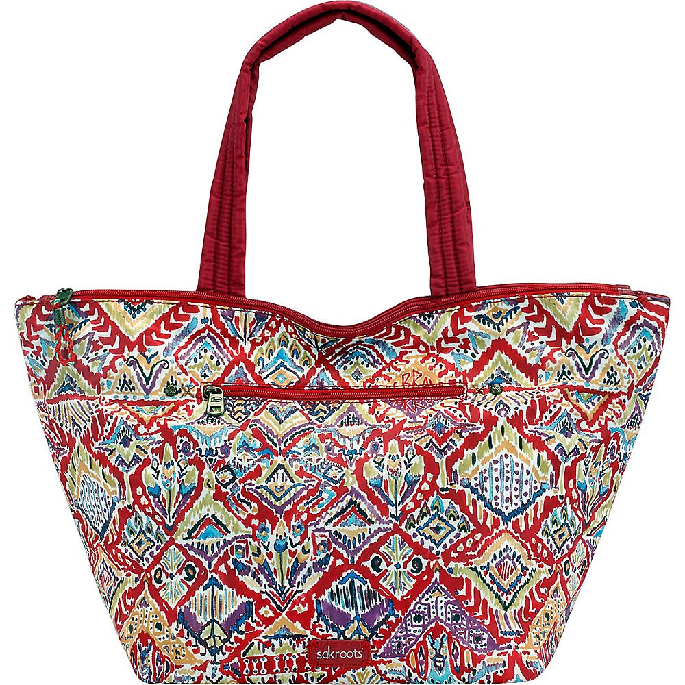 Sakroots Kota Reversible City Tote Sweet Red Brave Beauti - Sakroots Fabric Handbags