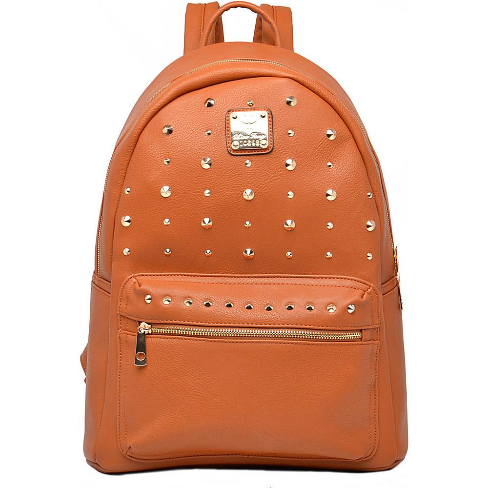 MKF Collection Valo Fashion Backpack Brown - MKF Collection Everyday Backpacks - Backpacks, Everyday Backpacks