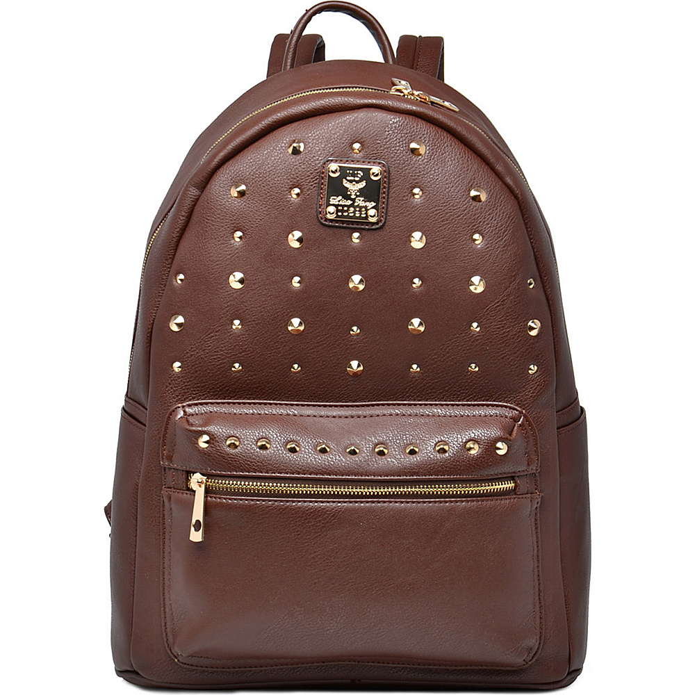 MKF Collection Valo Fashion Backpack Coffee - MKF Collection Everyday Backpacks - Backpacks, Everyday Backpacks