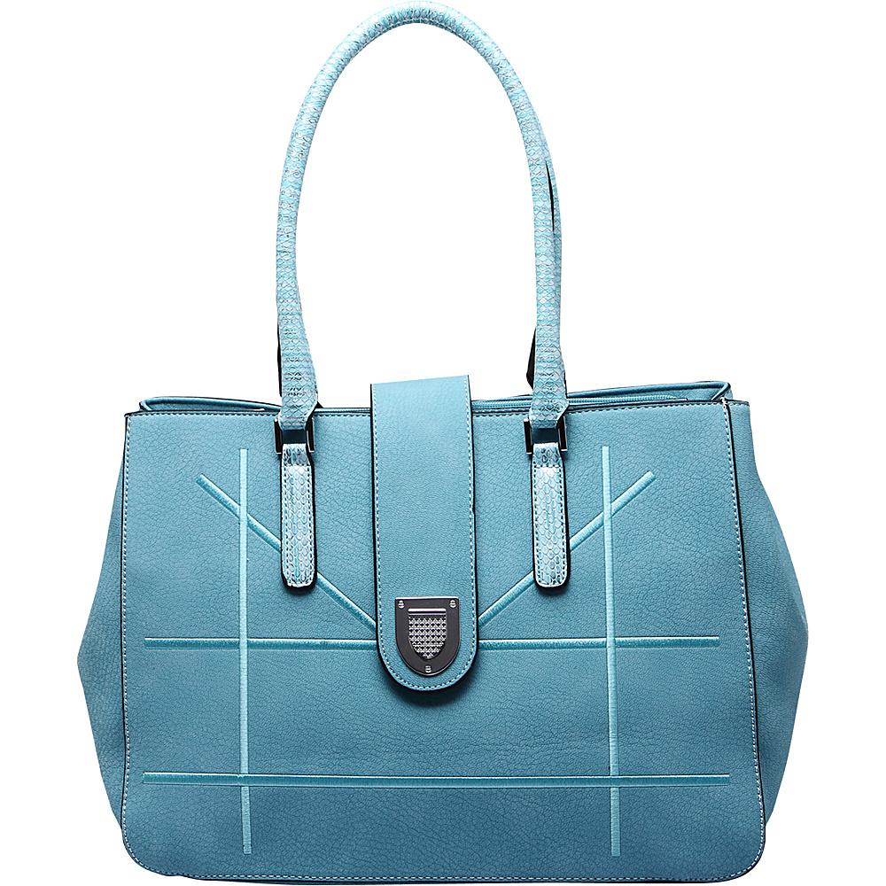 MKF Collection by Mia K. Farrow Caldera Satchel Light Blue - MKF Collection by Mia K. Farrow Manmade Handbags - Handbags, Manmade Handbags
