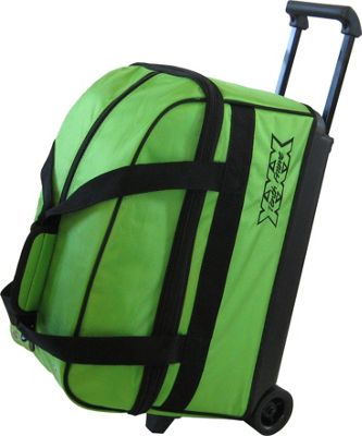 Tenth Frame Tenth Frame Basic Double Roller Bowling Ball Bag Lime - Tenth Frame Bowling Bags