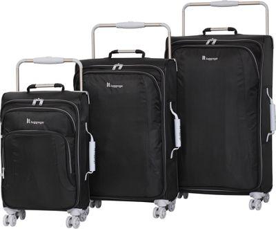 it luggage World's Lightest 8 Wheel 3 Piece Set RAVEN - it luggage Luggage Sets