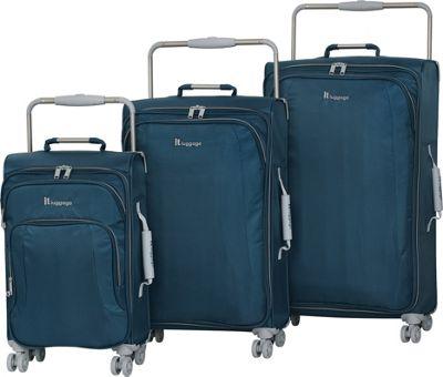 it luggage World's Lightest 8 Wheel 3 Piece Set Blue Ashes - it luggage Luggage Sets