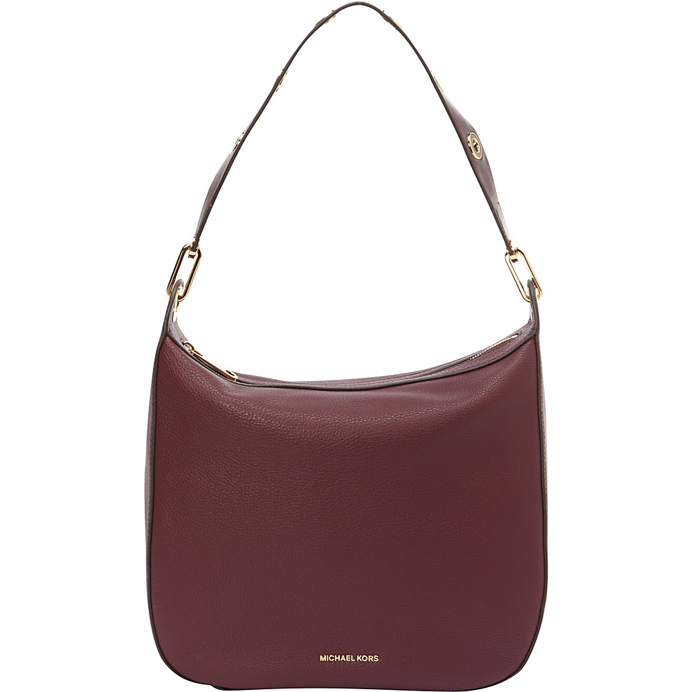 MICHAEL Michael Kors Raven Large Shoulder Bag Plum MICHAEL Michael Kors Designer Handbags
