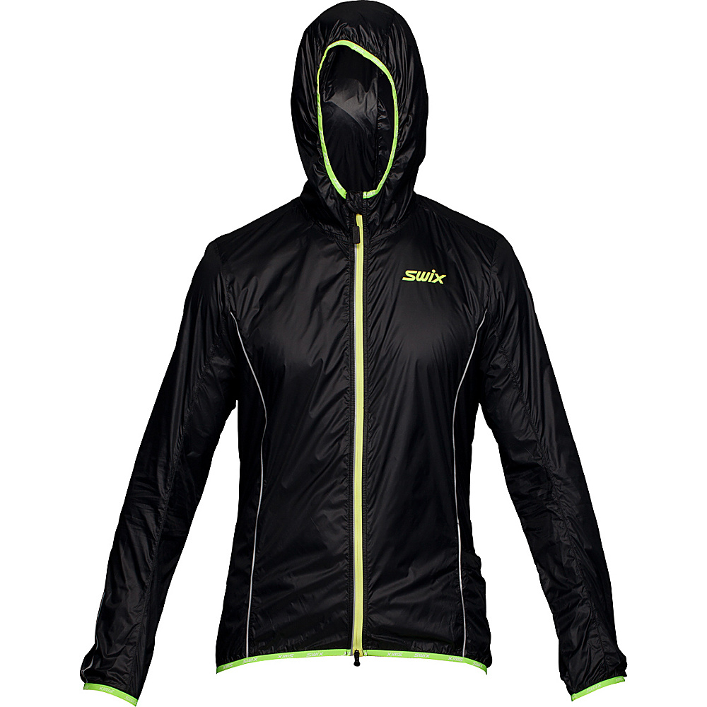 Swix Mens Cyclon Packable Wind Jacket L Black Swix Men s Apparel
