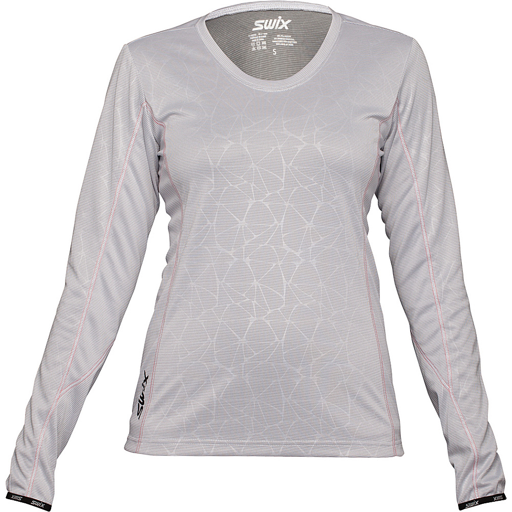 Swix Womens Stadion Long Sleeve Tee L White Swix Women s Apparel