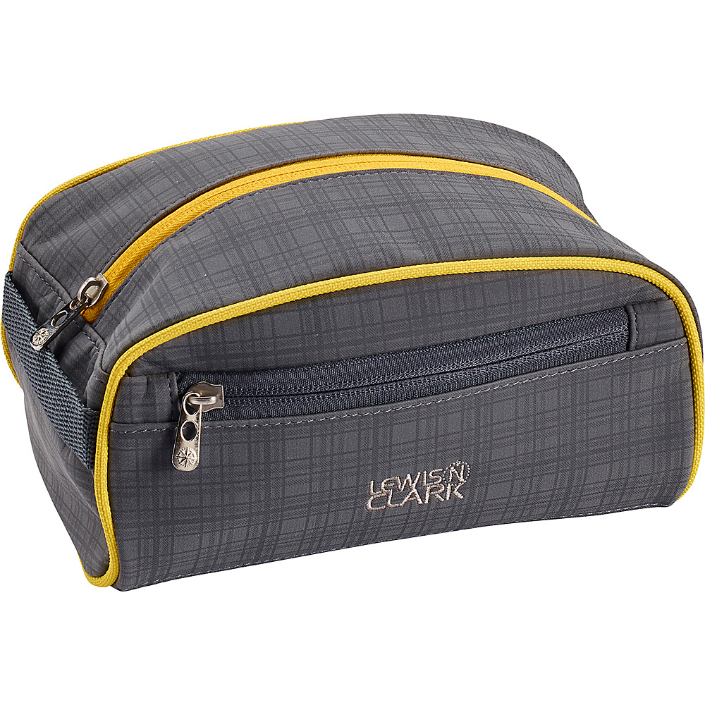 Lewis N. Clark Toiletry Kit Charcoal Yellow Lewis N. Clark Toiletry Kits