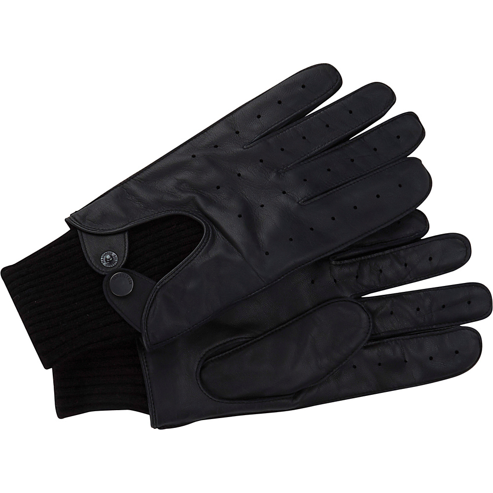 Ben Sherman Leather Driving Glove M - Staples Navy - Ben Sherman Hats/Gloves/Scarves