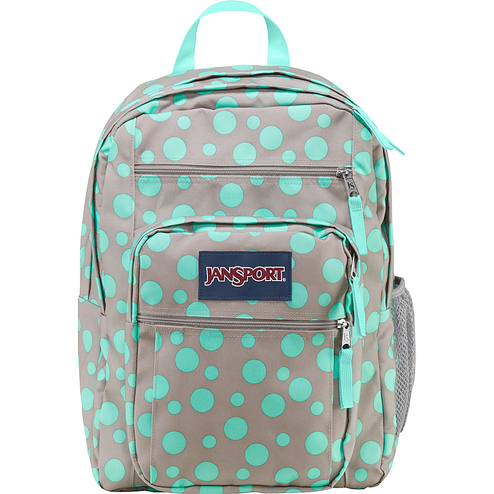 JanSport Big Student Backpack- Discontinued Colors Grey Rabbit Sylvia Dot - JanSport School & Day Hiking Backpacks