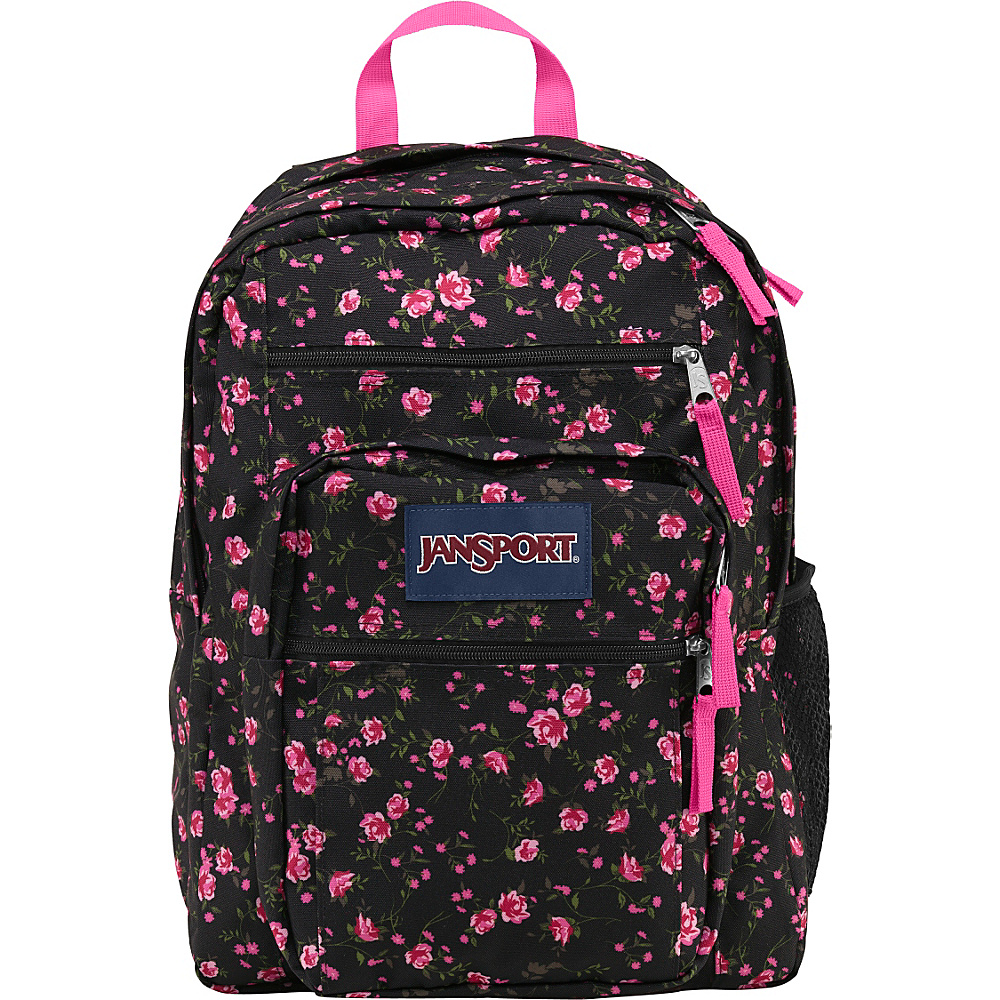 JanSport Big Student Backpack- Discontinued Colors Lipstick Pink Tea Rose Ditzy - JanSport School & Day Hiking Backpacks
