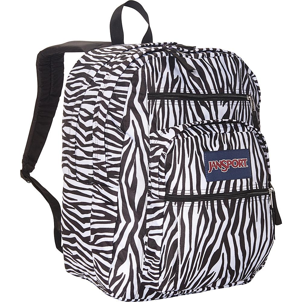JanSport Big Student Backpack- Sale Colors Black/White Zebra Stripe - JanSport Everyday Backpacks