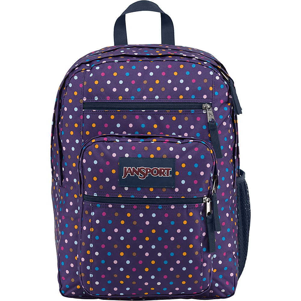 JanSport Big Student Backpack- Sale Colors Purple Spot-O-Rama - JanSport Everyday Backpacks