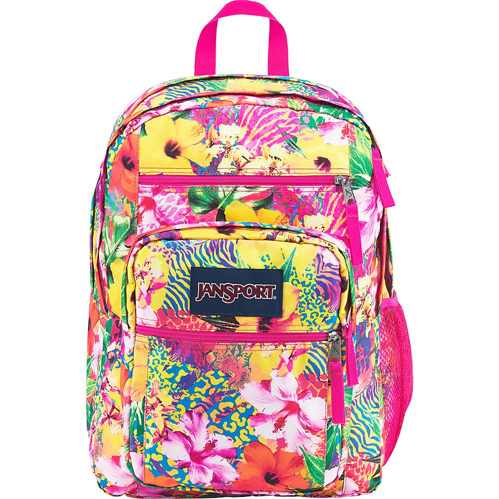 JanSport Big Student Backpack- Sale Colors Tropical Mania - JanSport Everyday Backpacks