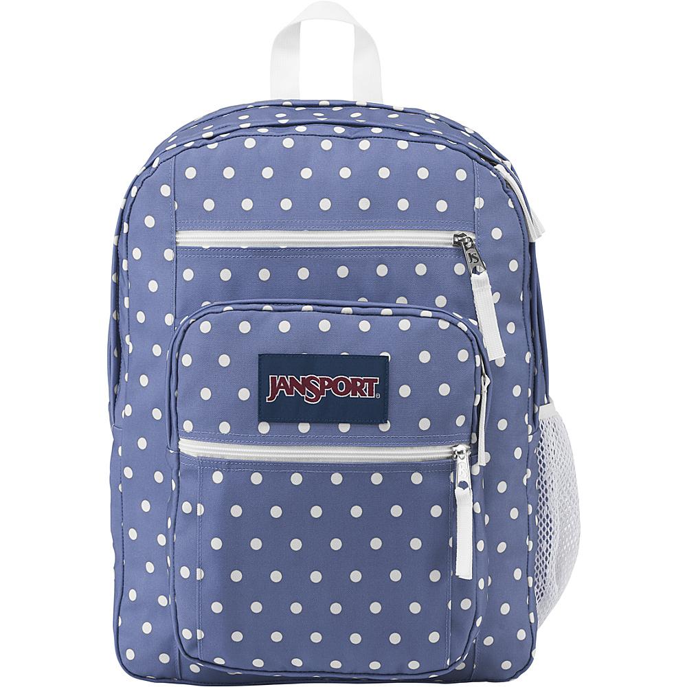 JanSport Big Student Backpack- Sale Colors Bleached Denim / White Dot - JanSport Everyday Backpacks
